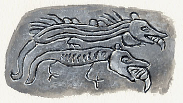 Petroglyphs of Sea Monsters